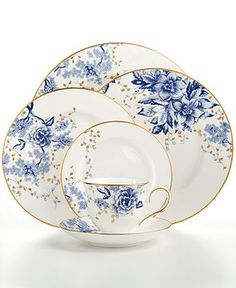 Lenox Garden Grove Collection - Fine China - Dining & Entertaining - Macy's Bridal and Wedding Registry Fine China Dinnerware, Dinnerware Sets, Casual Dinnerware, Vintage Dishes, Vintage China, Vintage Plates, Fine China Patterns, Wedding China, China Sets