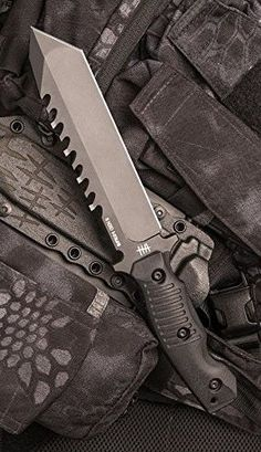 Hardcore Hardware Australia BFK01-GII Generation 2 Tactical Fixed Survival Knife Blade Black G-10 Handle Black Teflon Blade