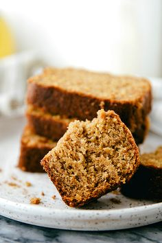 A healthier version of a classic banana bread using Greek yogurt and other healthier ingredients.