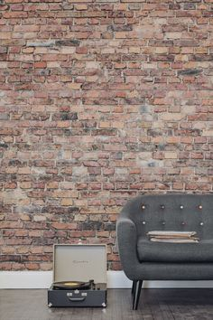 If you're yearning after a brick wall, this brick effect wallpaper is a beautiful alternative. Bring an urban edge to your living room with this texture wallpaper design.