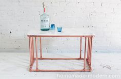 HomeMade Modern DIY EP80 Copper Marble Table Options
