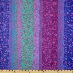 Kaffe Fassett Collective 2010 Blue Ombre Stripe Blue - Discount Designer Fabric - Fabric.com