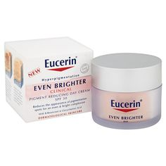 Buy Eucerin® Even Brighter Clinical Pigment Reducing Day Cream SPF 30 (50ml) , luxury skincare, hair care, makeup and beauty products at Lookfantastic.com with Free Delivery.