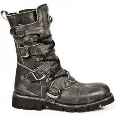 M.1473-C3 New Rock Black Distressed-Finish Comfort Light Boots