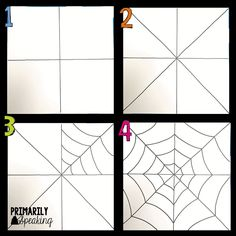 Spider Web Art Tutorial