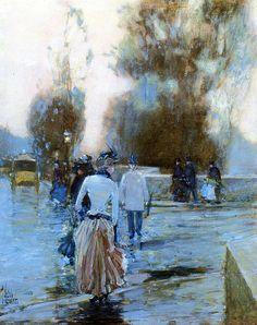 Frederick C Hassam. Quai des Tuileries, 1888-89 | by vvaassya2014