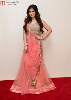 Buy Zarin Khan Peach Georgette Embroidered Bollywood Lehenga online in India at best price.Shop Dhameliya Exclusive Product Lehnga Choli by Santosa Fashion online. Largest collection of Latest Ghagra Choli, Bollywood Lehenga, Bollywood Fashion, Pink Lehenga, Bollywood Actress, Lehenga Style, Lehenga Choli Online, Sarees Online, Indian Outfits