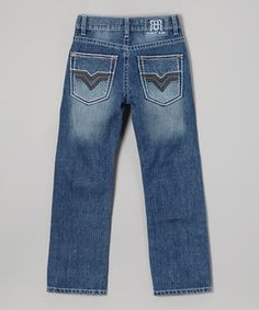 Love this Blue Dark Trimble Jeans - Boys by Request Jeans on #zulily! #zulilyfinds