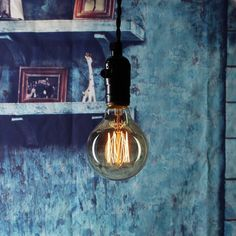 Incandescent Light Bulbs - Squirrel Cage Filament - Classic Amber Glass Vintage Light Bulbs, Vintage Lighting, Cage, Amber Glass, Retro, Vintage Antiques, Sconces, Wall Lights, Filament