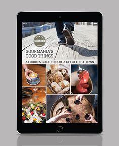 E-BOOK DESIGN for Gourmania Food Tours in Hobart, Tasmania. Scissors Design, Rock Paper Scissors, Tasmania, Book Design, The Past, Tours, Fun, Hilarious
