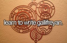 learn to write gallifreian