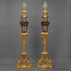 An Impressive Pair of Napoléon III Gilt-Bronze Figural Torchères by Goelzer & Poumaroux - #adrianalan
