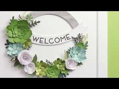 Creating a handmade wreath has never been easier, thanks to our Welcome Home wreath kit. With beautiful paper succulents, roses, and gold foil accents, this ...