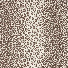 Iconic Leopard | 176450 in Brown | Schumacher Fabric