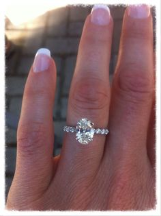 Almost perfect. I love the setting of the diamonds on the band bit I would rather have them on a wedding band and have a solitaire engagement ring (with a very thin band of course).
