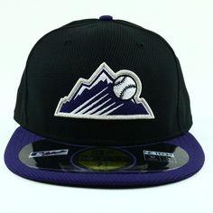 buy online e6cf4 9e82f Colorado Rockies Unisex Hat NEW ERA Black Fitted MLB Baseball 59FIFTY Cap 7  3 4