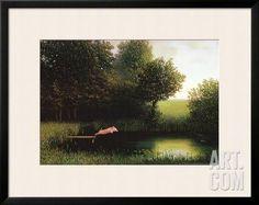 Kohler's Pig Framed Art Print by Michael Sowa at Art.com