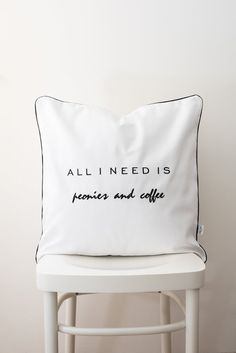 Embroidered word cushion cover,typography pillow,word pillowcase,quote pillow,quote cushion,monochrome pillowcase,monochrome cushion pillow Cushion Pillow, Bed Pillows, Pillow Cases, Typography Cushions, Quote Pillow, Linens, Monochrome, Handmade Gifts, Cover