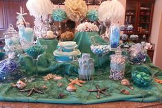 Under the Sea candy bar for 2nd birthday!