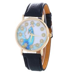MJARTORIA  New Peacock Gold Dial Wristwatches for Women Leather Watchband Watches Women Ladies Dress Watch Sweet Girl #Affiliate