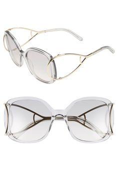 Chloe 'Jackson' 56mm Square Sunglasses