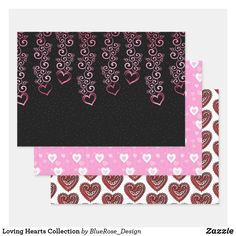 Loving Hearts Collection Wrapping Paper Sheets