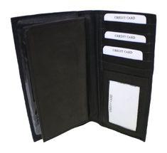 Dona Michi Genuine Leather Checkbook Cover Black