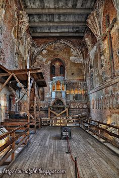 Part of the Malbork Castle, Poland - Damaged Church