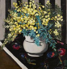 Margaret Preston (Australian, 1875-1963), Wattle, 1928. Oil on canvas, 46 x 45.5cm.