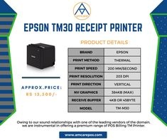 Best POS #EPSON TM30 #Receipt_Printer providers and suppliers in India