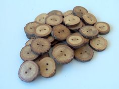 NEW - 30 Buttons - BlackJack Tree Branch Buttons - 1 2/5  -  2 inches in diameter - For Crafters - Knitting, $32.00