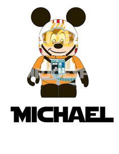 Star Wars Mickey Mouse DIY Printable Jedi Luke by mrjoesprintables, $5.00