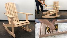 Rocking Chair, Projects To Try, Furniture, Mary, Home Decor, Youtube, Woodworking, Wooden Folding Chairs, Garage Workshop