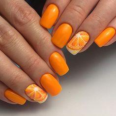Orange Nails, Manicure, Peach, Nail Art, Beauty, Nail Bar, Nails, Orange Nail, Polish