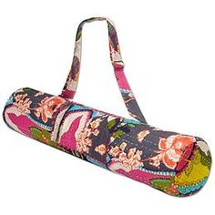 Bhakti Bag by Prana® - Transport your mat in eastern-inspired style with this printed bag from PrAna® that has a side storage pocket and adjustable strap.