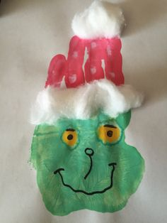 handprint grinch craft