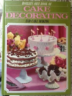 This festive recipe comes from the Woman's Own Book of Cake Decorating & Cake Making Vintage Christmas Recipe . Birthday Candles, Birthday Cake, Yule Log, Vintage Recipes, Food Festival, How To Make Cake, Vintage Kitchen, Vintage Christmas, Cake Decorating