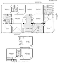 Quadruple wide mobile home floor plans 5 bedroom 3 for Lucky 4 ranch floor plan