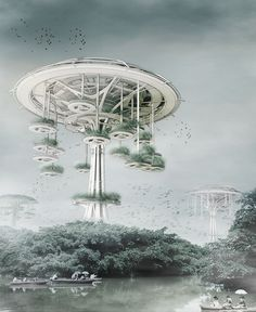 Floating Waterfront Village: Trees of Life - eVolo | Architecture Magazine