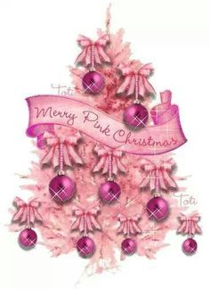 Merry pink Christmas