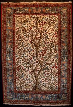 Color and pattern - Tree of Life Persian Rug will look for a different color scheme. This is close. Thanks Luv, what a great wedding present.