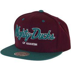 Mitchell & Ness Mighty Ducks Of Anaheim Special Script 2 Tone Snapback Cap ★★★★★