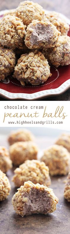 Chocolate Cream Peanut Balls - These are the ultimate Thanksgiving and Christmas dessert! I haven't met a person that doesn't like them! @realsealdairy #spon