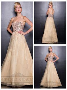 Gold Sweetheart Sequin Prom Dresses with A-line Tulle Skirt http://www.ckdress.com/gold-sweetheart-sequin-prom-dresses-with-aline-  tulle-skirt-p-124.html  #wedding #dresses #dress #lightindream #lightindreaming #wed #clothing   #gown #weddingdresses #dressesonline #dressonline #bride