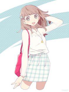 e-shuushuu kawaii and moe anime image board Manga Girl, Manga Kawaii, Chica Anime Manga, Kawaii Anime Girl, Anime Art Girl, Anime Girls, Pretty Anime Girl, Beautiful Anime Girl, Anime Style