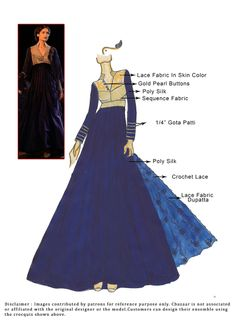 DIY Poly Silk Floor Length Anarkali Suit