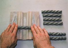 Making handle using wooden trim
