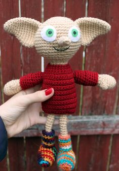 Crochet Pattern: Dobby Amigurumi Harry Potter by MilesofCrochet