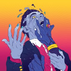'Get To Heaven' by Everything Everything album cover. Illustration by Andrew Archer Cool Album Covers, Album Cover Design, Music Album Covers, Best Album Art, Best Albums, Cover Art, Vinyl Cover, Andrew Archer, Musik Illustration