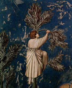 Cappella degli Scrovegni (detail) by Giotto (Italy, Italian Painters, Italian Artist, Mural Painting, Figure Painting, Famous Artists, Great Artists, Tempera, Fresco, Renaissance Artists